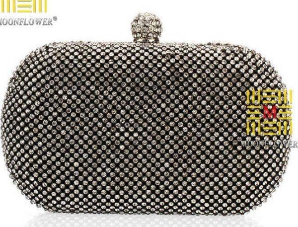 Bolsa De Mao Dourada Para Festa : Bolsa de m?o strass festas luxo prateada ou dourada cc